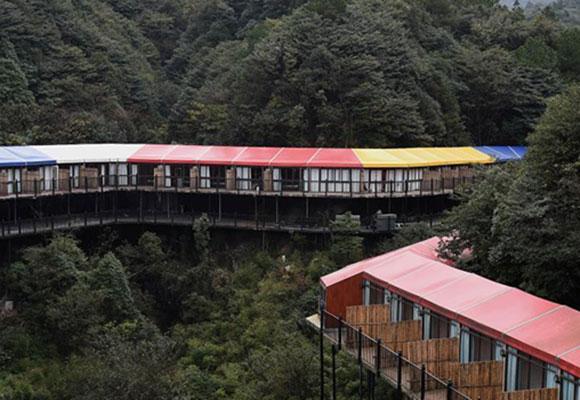 重庆临崖酒店顺山形而建