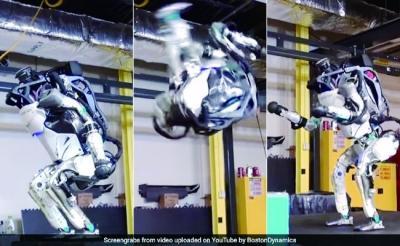 人形机器人又学会了后空翻