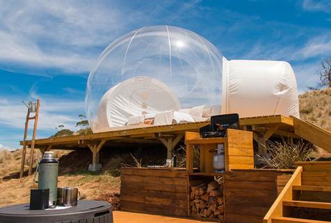 澳夫妇推出气泡帐篷亲近自然仰望星空