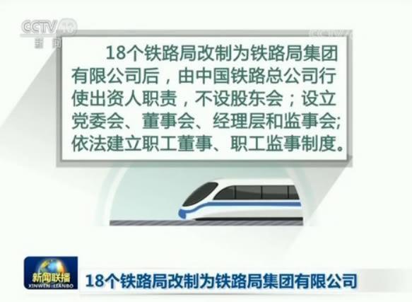 18个铁路局改制完成正式挂牌 铁总内设机构精简