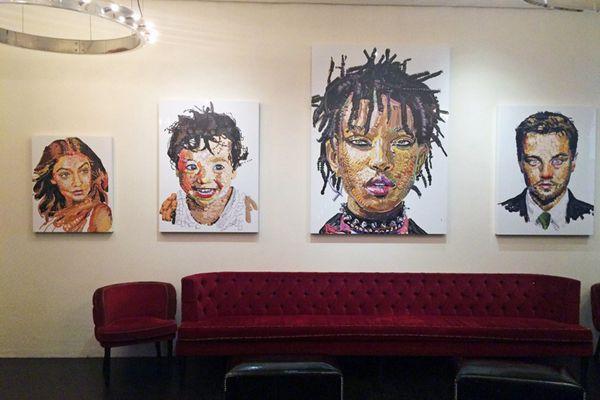 美国艺术家用emoji表情创作名人肖像画
