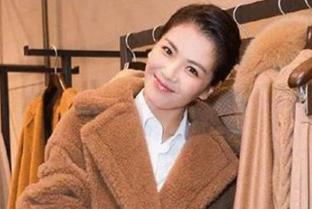 刘涛穿上焦糖色,暖暖一冬