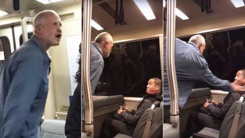 美白人男子地铁上辱骂攻击亚裔 被警方禁乘地铁