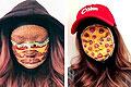 加化妆师脑洞大开将自己脸画成披萨汉堡