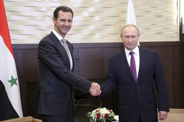 巴沙尔当面感谢普京:多亏俄罗斯拯救了叙利亚
