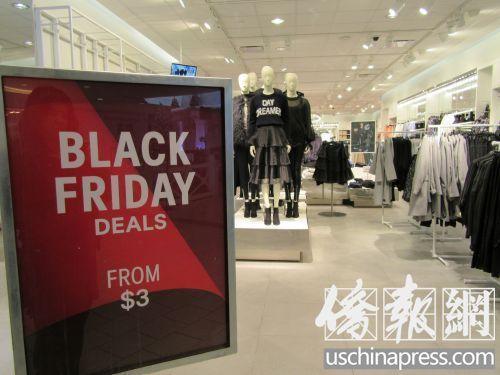 """美国""""黑五""""购物节提前促销 华人淡定围观不买账"""