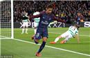 欧冠-内马尔2射1传卡瓦尼2球 巴黎7-1逆转大胜