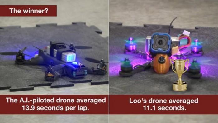 人工智能VS人类:谁会是无人机竞速冠军?