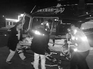 空中救援 河北一名急症男孩1小时到京