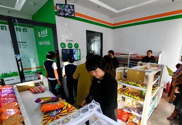 新疆首家无人超市运营 24小时无人值守