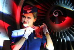 俄国航发布新员工制服 高颜值空姐吸睛