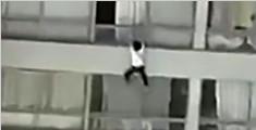 男子用身体当坠楼女肉垫