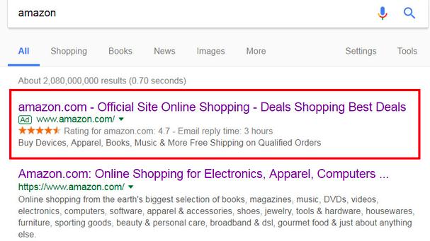 黑五期间:Google搜索被爆存在虚假亚马逊广告
