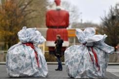 """欧洲加强圣诞反恐措施 现""""大礼包""""路障"""