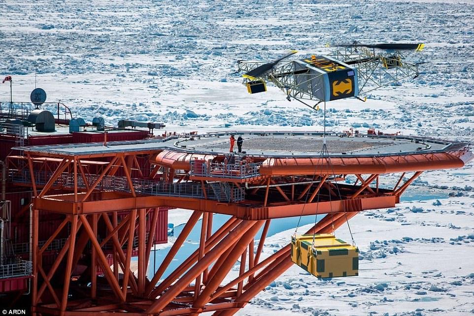 俄多旋翼无人机可负载超180公斤 续航高达8小时