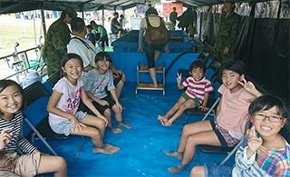 日本自卫队周年庆祝邀请民众足浴