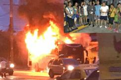 泰旅游大巴起火 26名中国游客死里逃生