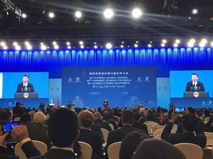 """国际刑警组织第86届全体大会点赞""""连云港论坛"""""""
