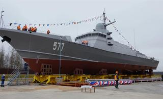 俄罗斯新型护卫舰下水 吨位只有056轻护一半