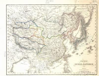 意大利华人捐古版中国地图 证明钓鱼岛为中领土
