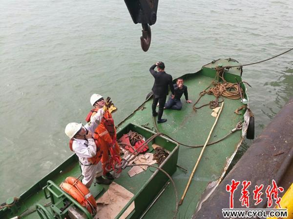 珠江口沉没货船5名船员获救