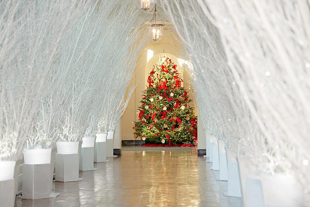 白宫圣诞节内部装饰曝光 犹如童话世界