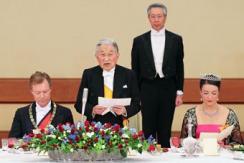 日本天皇举行欢迎宴 真子公主甜美亮相