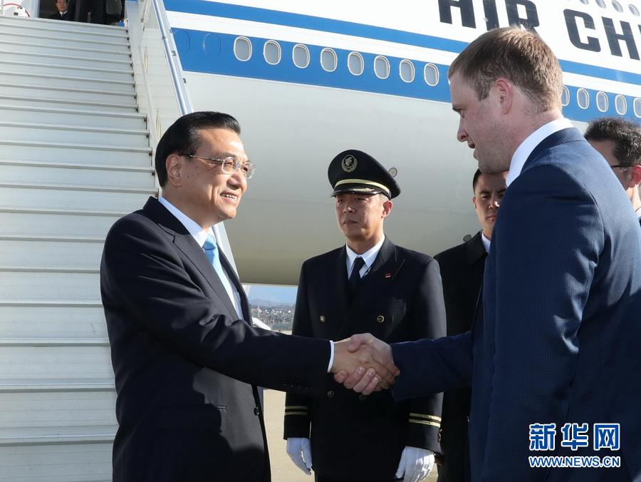 李克强抵达索契出席上海合作组织成员国总理第十六次会议