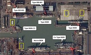 简氏曝卫星图称中国造5气垫艇