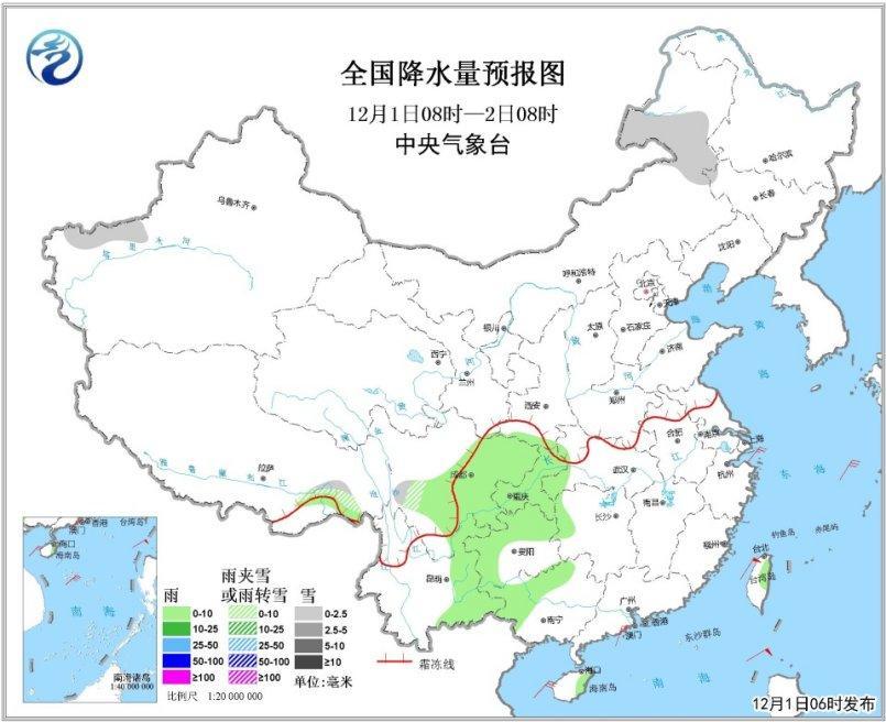 华北中南部等地将有霾 西南地区多阴雨天气