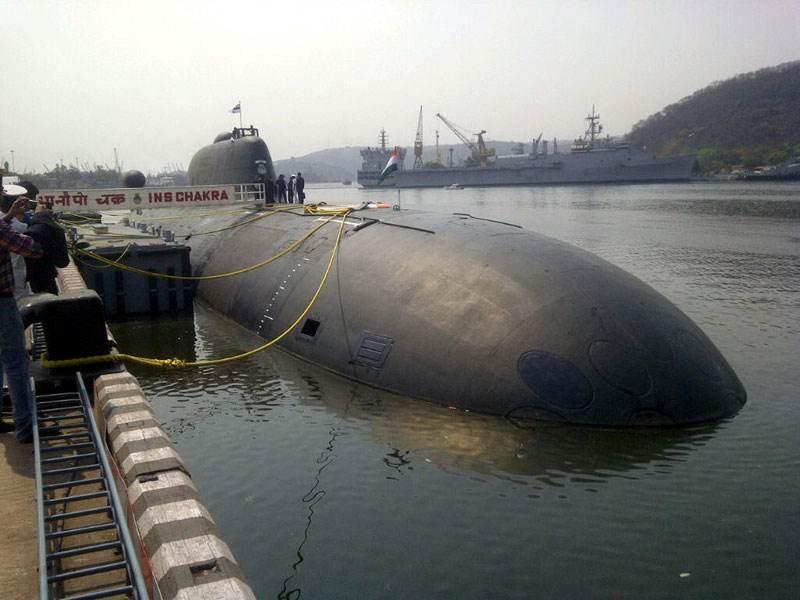 印度租借俄核潜艇撞坏:印俄专家展开联合调查