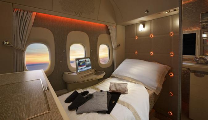 阿联酋航空新一代777飞机首飞 头等舱这么豪华
