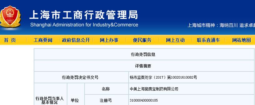 中美上海施贵宝制药涉嫌给回扣被罚!