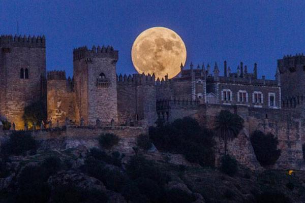 """""""超级月亮""""现身 系近80年第8大满月"""