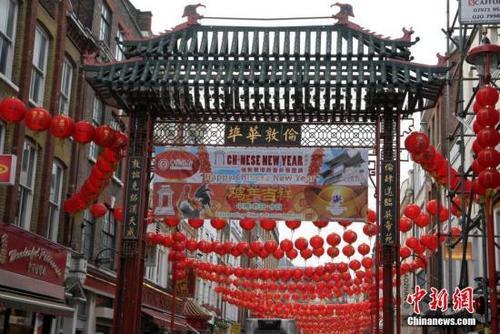 中国侨网资料图:英国伦敦唐人街。 中新社记者 周兆军 摄