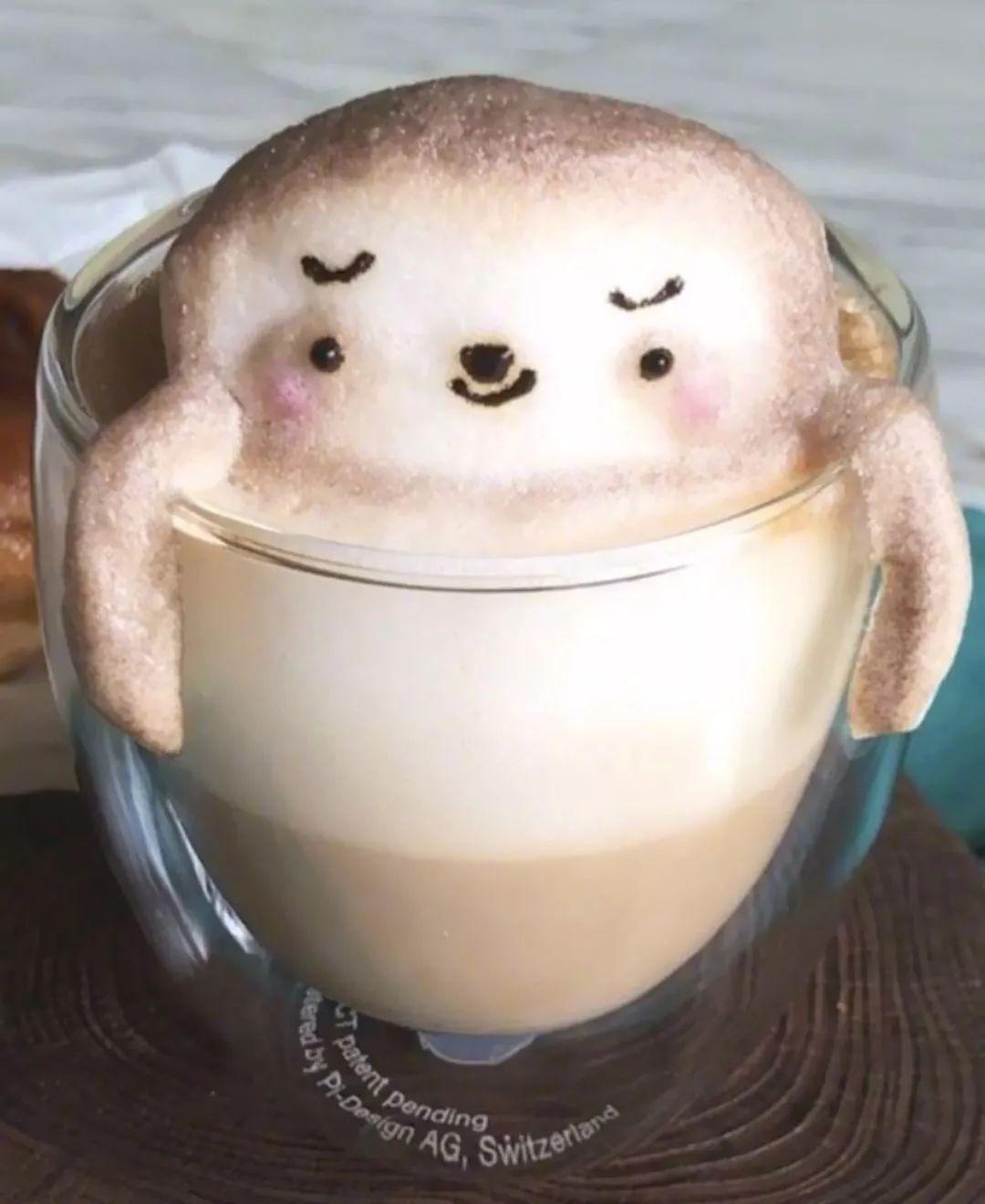 太可爱了,我见过最厉害的3D咖啡!