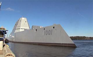 美万吨大驱二号舰进行首次海试