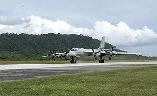 俄图95战略轰炸机抵达印尼访问