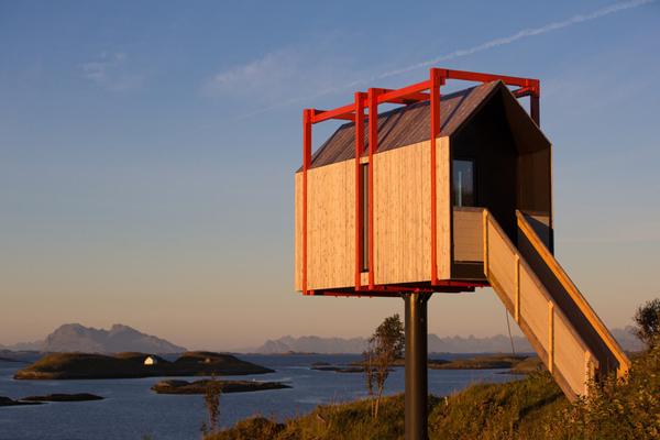 空灵之旅!挪威艺术家在北极小岛建度假屋