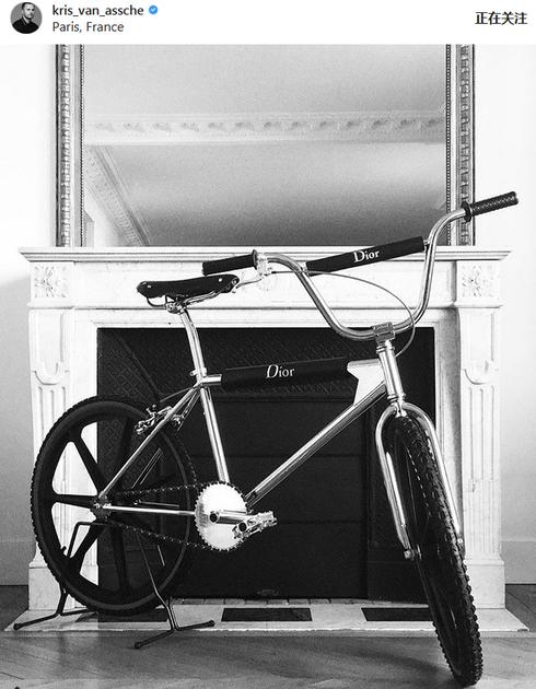 Dior Homme跨界出单车