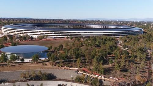 Apple Park 12月航拍:果X都发布仨月了 还没建完