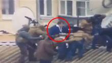 """格鲁吉亚前总统要跳楼被逮捕 支持者砸车""""救出"""""""