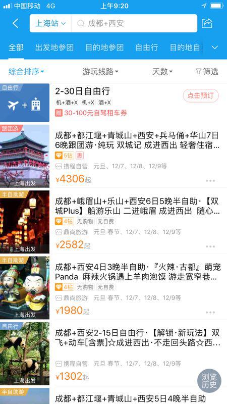 携程西成高铁旅游报告:成本直降20% 一次游两省走红