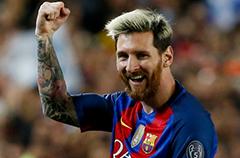 梅西荣膺2017世界顶级联赛最佳射手