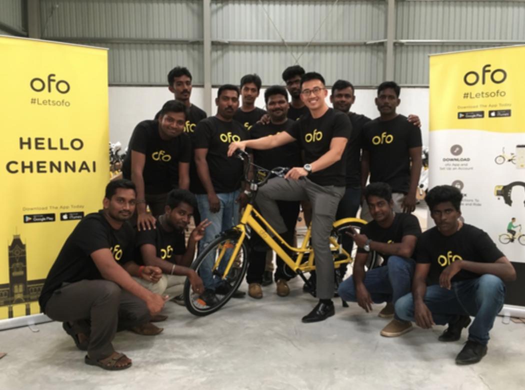 ofo登陆印度 对战印度两大共享单车服务商
