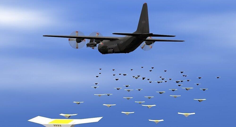 美测试新型部署无人机方式:包裹炸弹外壳后从战机中喷射出来