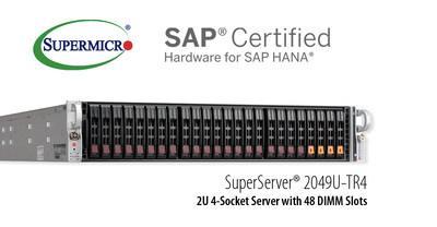 美超微凭新的已认证升级SuperServer SAP HANA拓展企业方案