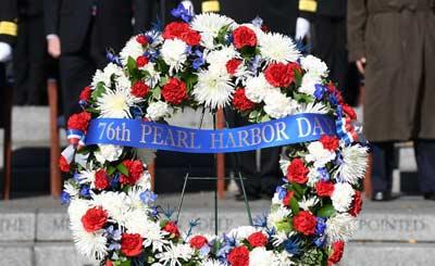 美国纪念珍珠港事件76周年
