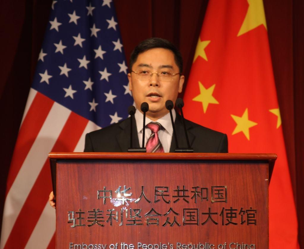 """中国驻美公使:美舰抵达高雄日 就是""""武统""""之时"""