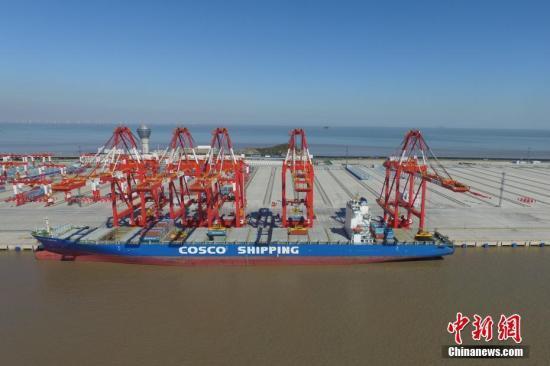 中国承建全球规模最大自动化码头洋山四期开港